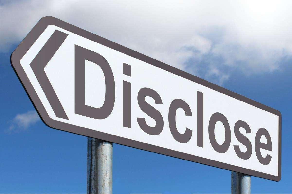 Disclose sign