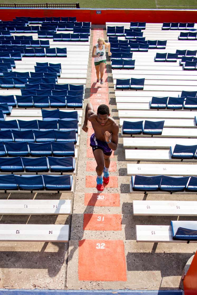 Stadium stair running